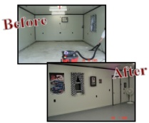 Before and after garage photos